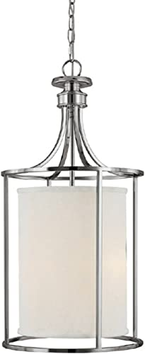 Capital Lighting 9042PN-474 Foyer with Frosted Diffuser Glass Shades, Polished Nickel Finish