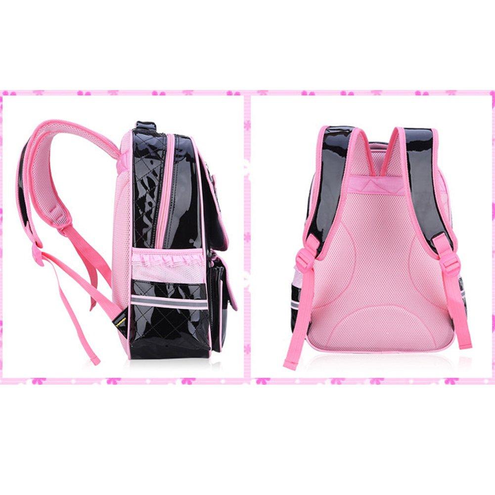 SAND-H Kid bambino Schoolbag cute Girls Princess Style zaino Zaino borsa da viaggio impermeabile comodo e traspirante black