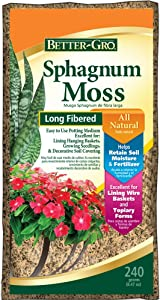 Sun Bulb Company Inc 50430 Better-Gro Sphagnum Moss, Growing Medium, 240 Grams