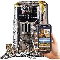 SuntekCam Cámara de caza Bluetooth WiFi 24 MP 1296P WLAN con detector de movimiento Cámara para caza de fauna salvaje…
