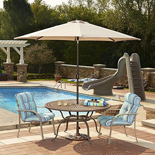 Island Umbrella N5422CH Mirage Octagonal Market Umbrella, 9-ft, Champagne Olefin
