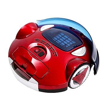 Aspirador robótico de Fuerte succión para Suelo Duro y Alfombra Sensor de caída anticolisión Batería de Larga duración Robot de vacío Rojo: Amazon.es: Hogar