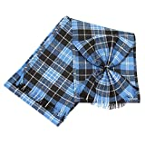 Scottish 100% Wool Tartan Ladies Mini Sash with Rosette - Clark