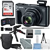 Canon PowerShot SX730 HS Digital Camera (Black) W/Basic Bundle, 16GB, Xpix Tabletop Tripod +FiberTique Cloth