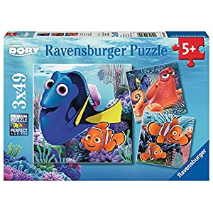 Ravensburger Disney Finding Dory Set of 3 49 Piece Jigsaw Puzzles for Kids – Every Piece is Unique, Pieces Fit Together…