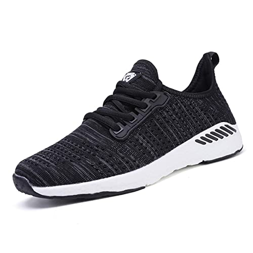 taille 40 5ce28 61c78 Decai Femmes Baskets Running Fitness Course Basses Athlétique Marche Gym  Filets Chaussures Respirant Maille À Lacets Leger Sport Run Baskets Blanc  ...