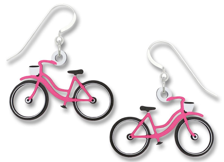 Sienna Sky Vintage Style Pink Bicycle Earrings 1891
