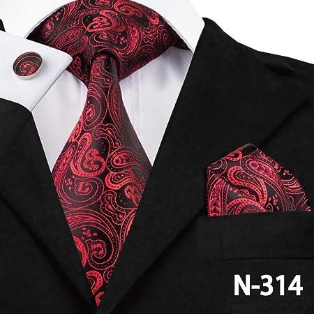 AK Corbata de corbata para hombre Corbata roja de moda para hombre ...