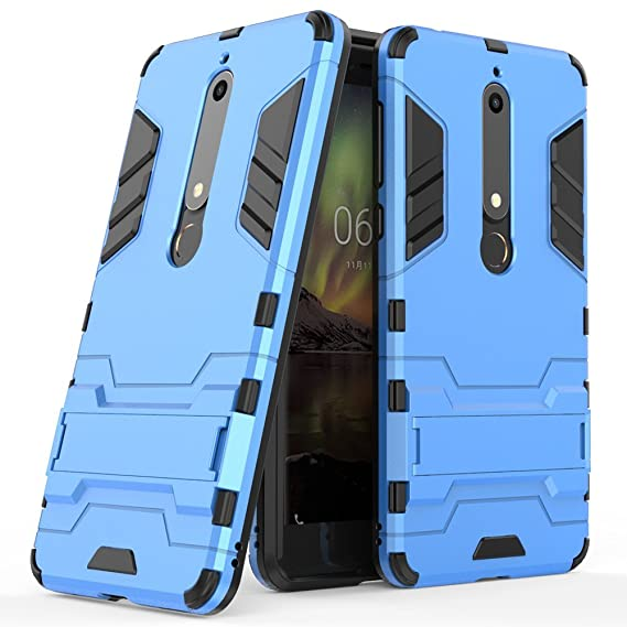 online store 55101 9c207 Nokia 6.1 Case, Nokia 6 2018 Case, [Not suitable for Nokia 6] MAIKEZI Dual  Layer Armor Hard Slim Hybrid Kickstand Phone Cover Case for Nokia 6 2018 ...