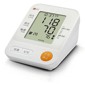 lbtt Tensiómetro De Brazo Eléctrico Monitor Digital De Presión Arterial LCD Pantalla Para Lectura Fácil Función De Memoria Uso Doméstico Fino Con: ...