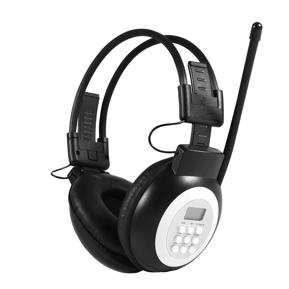 41f5dc56209 MP3/AM/FM HiFi Headset FM Radio with LCD, Over Ear: Amazon.co.uk:  Electronics