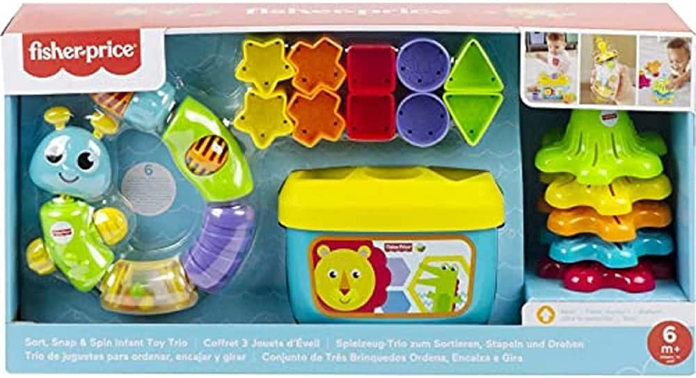 Fisher-Price Sort, Snap & Spin Infant Toy Trio