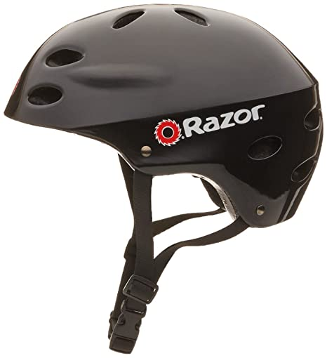 8d828db507a Image Unavailable. Image not available for. Color: Razor V-17 Youth Multi-Sport  Helmet Teen Protection Safety Black Gloss