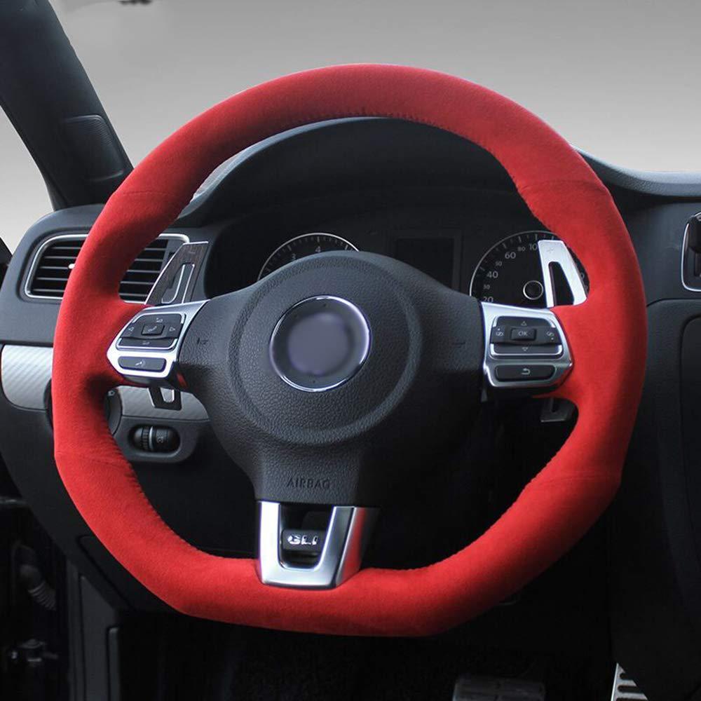 Amazon Com Luoerpi Car Steering Wheel Cover For Volkswagen