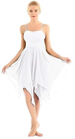 Plage Robes Natation Justaucorps Bain Été Bretelles Ballerine Danse Iiniim Mousseline Asymétrique Femme Robe Classique De R4Ajq3L5