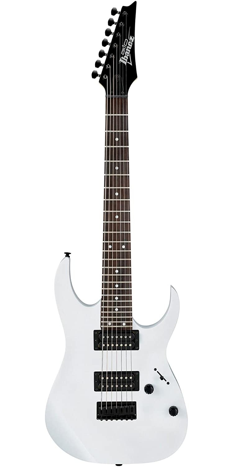 Amazon.com: Ibanez GRG 7 String Solid-Body Electric Guitar Right, White Full GRG7221WH: Musical Instruments