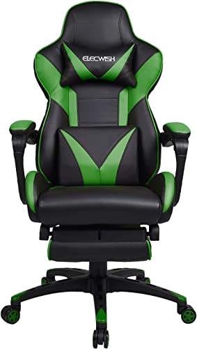 Puluomis Video Gaming Chair Racing Style Reclining Adjustable Swivel Office Chair