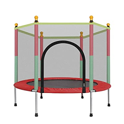 Barsine Kids Trampoline Fitness Play Set Jumping Toy with Enclosure Net 5 Feet Toddlers Indoor Outdoor : Sports & Outdoors