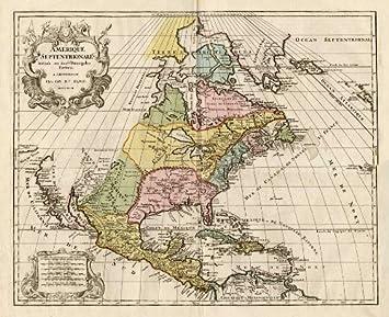 ThePrintsCollector Antik map-north america-canada-usa-mexico ...