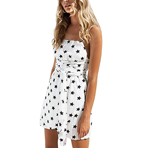 8a9acc658b Hpapadks Womens Lace Party Cocktail Mini Dress Summer Short Sleeve Skater  Short Dresses White
