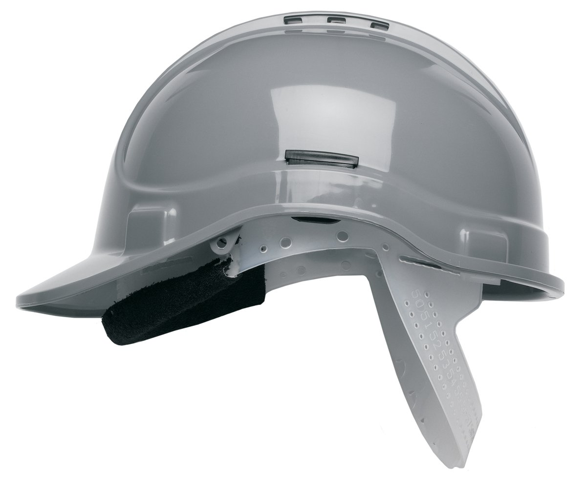 Scott HC300 Vented Safety Helmet Hard Hat Grey with Sweatband & Terylene Cradle