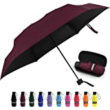 Yoobure Small Mini Umbrella with Case Light Compact Design Perfect for Travel Lightweight Portable Parasol Outdoor Sun…