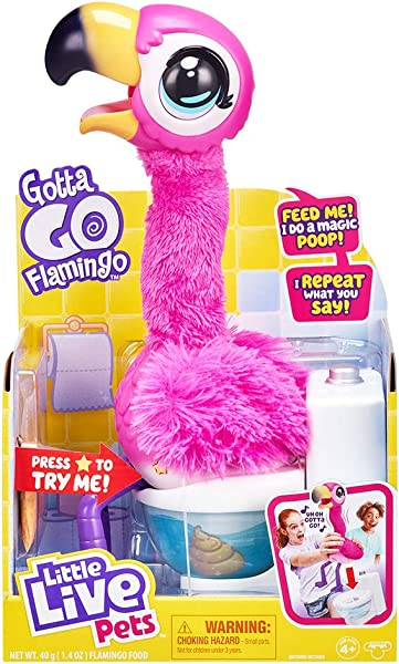 Little Live Pets Gotta Go Flamingo interactive pet for kids in package