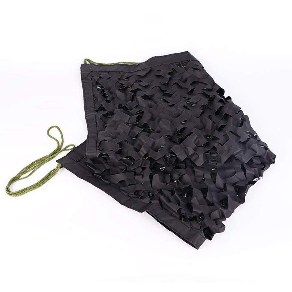 HHSzp Jungle Noir Camouflage Net Camping Ombre Tactique Net en Plein Air Crème Solaire CS Mesh Auvent Enfants Voiture Tente Thème Fête Gros Point, Diverses Tailles  6m×8m