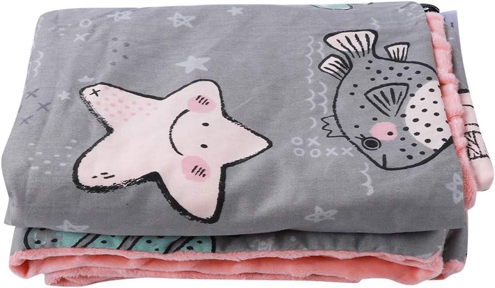 Manta infantil cálida, abrigo de algodón para bebés, moda de dibujos animados amigable con la piel, niños recién nacidos, bebé cuatro(Magic Elf (L), 93 * 73CM)