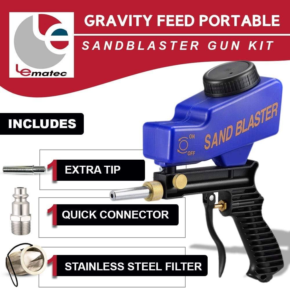 Adjustment Handheld Air Flow Speed Gun Sand Blaster Sandblaster Sandblasting UK