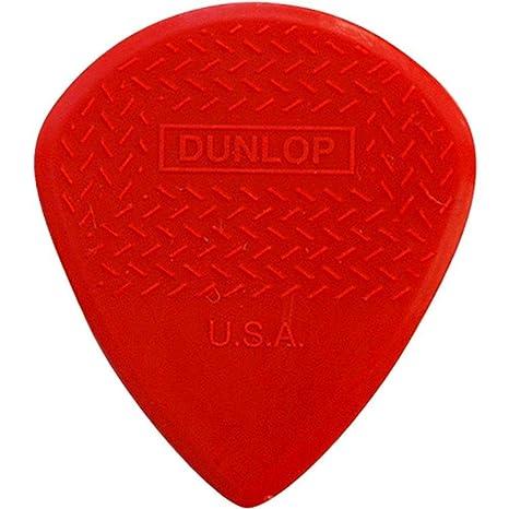 Dunlop Max Grip Jazz III - Púas para guitarra (nailon), rojo