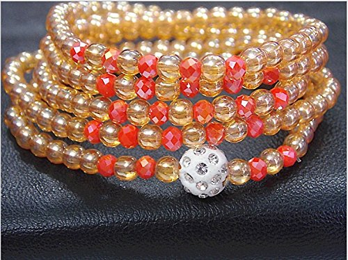(Wang jewelry crystal bead 4 five laps and more laps mid bracelet Ja and South Korea still have fish bracelet citrine)