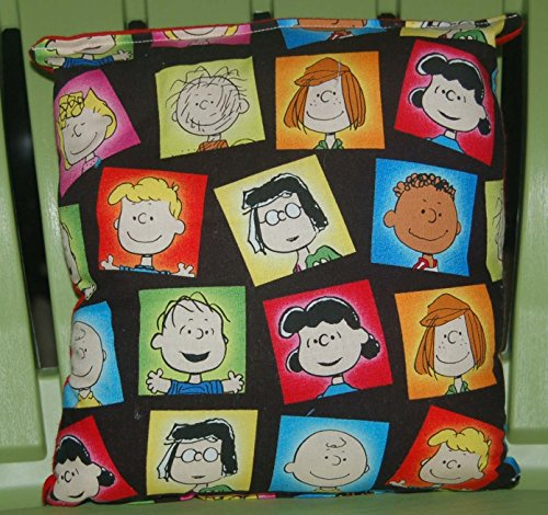 """Peanuts Pillow Peanut Gang Pillow Charlie Brown Pillow HANDMADE In USA NEW Pillow is approximately 10"""" X 11"""