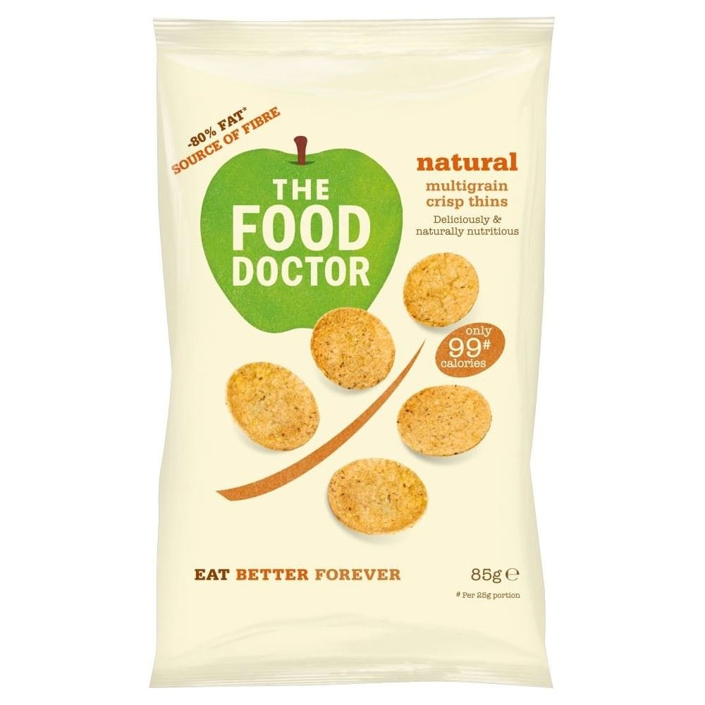 The Food Doctor Natural Multi Grain Crisp Thins (85g) - Pack of 6