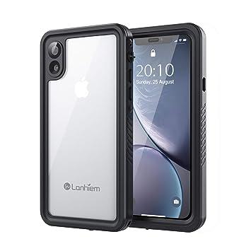 Lanhiem Funda Impermeable iPhone XR, Carcasa Sumergible Resistente Al Agua IP68 Certificado [Protección de 360 Grados], Carcasa para iPhone XR con ...
