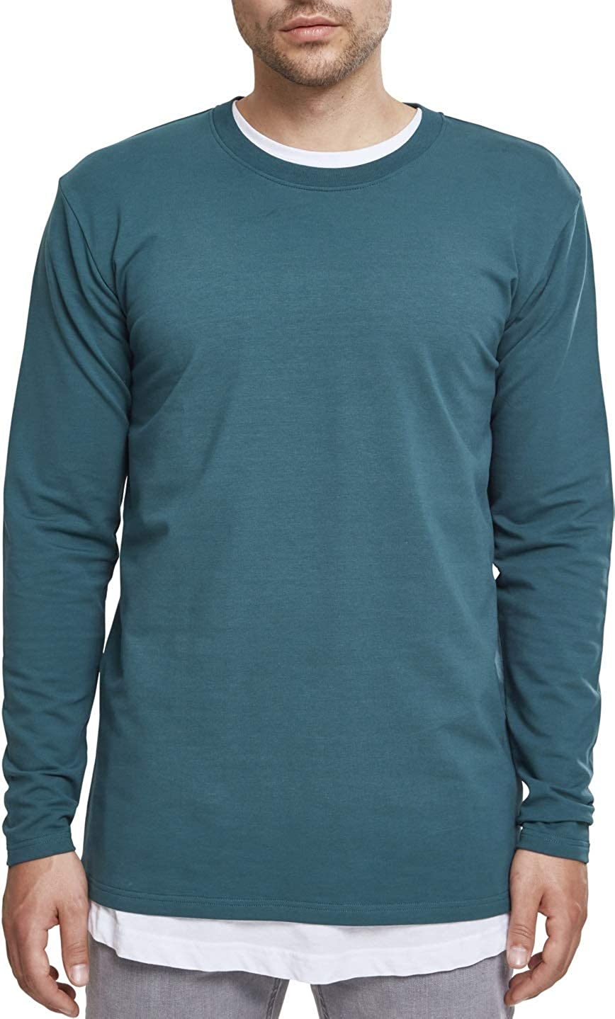 Urban Classics Stretch Terry Longsleeve T-Shirt Manches Longues Homme