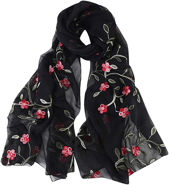 New Ladies Two Toned Printed Lightweight Scarf Hijab