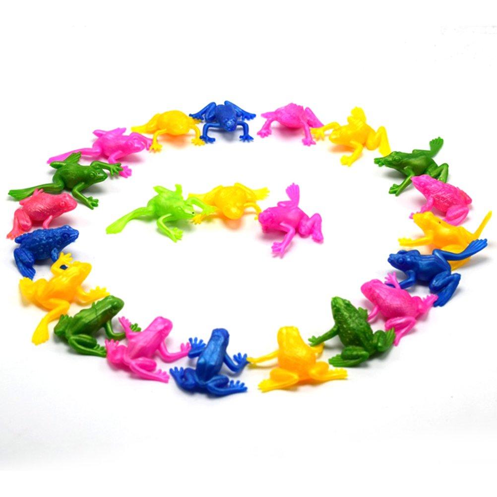 Zuf/ällige Farbe STOBOK 60 st/ücke Realistische Frosch Spielzeug Lustige Streich Spielzeug Frosch Figur Set Party Favors Geschenke f/ür Kinder