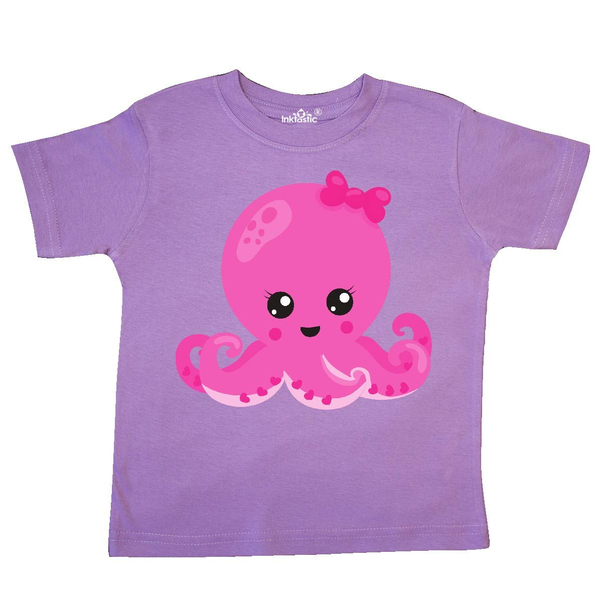 Hearts Toddler T-Shirt inktastic Pink Octopus Octopus with Pink Ribbon
