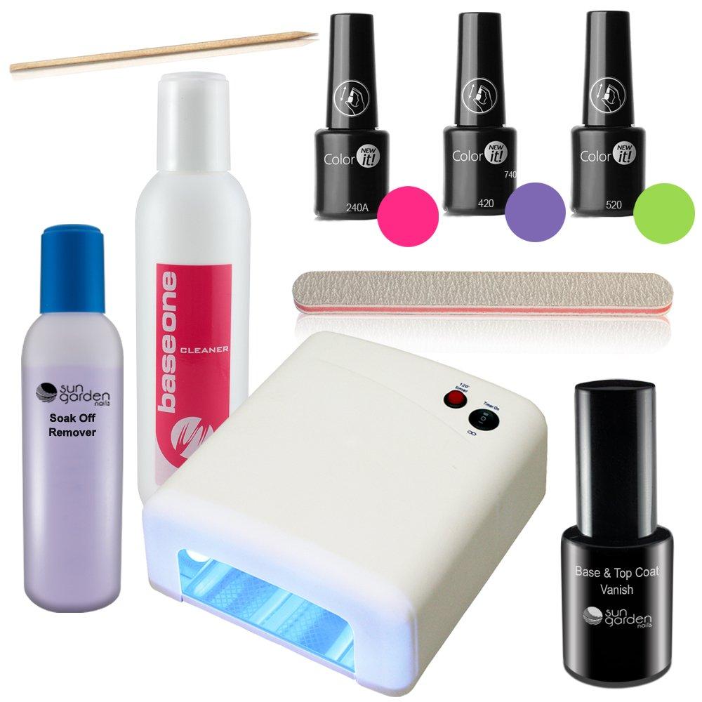 Kit de esmalte de uñas UV con unidad de endurecimiento UV - Esmalte ...