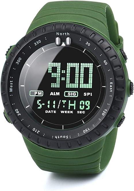 HECAREN - Reloj Deportivo para Hombre (led, Digital) Verde M ...