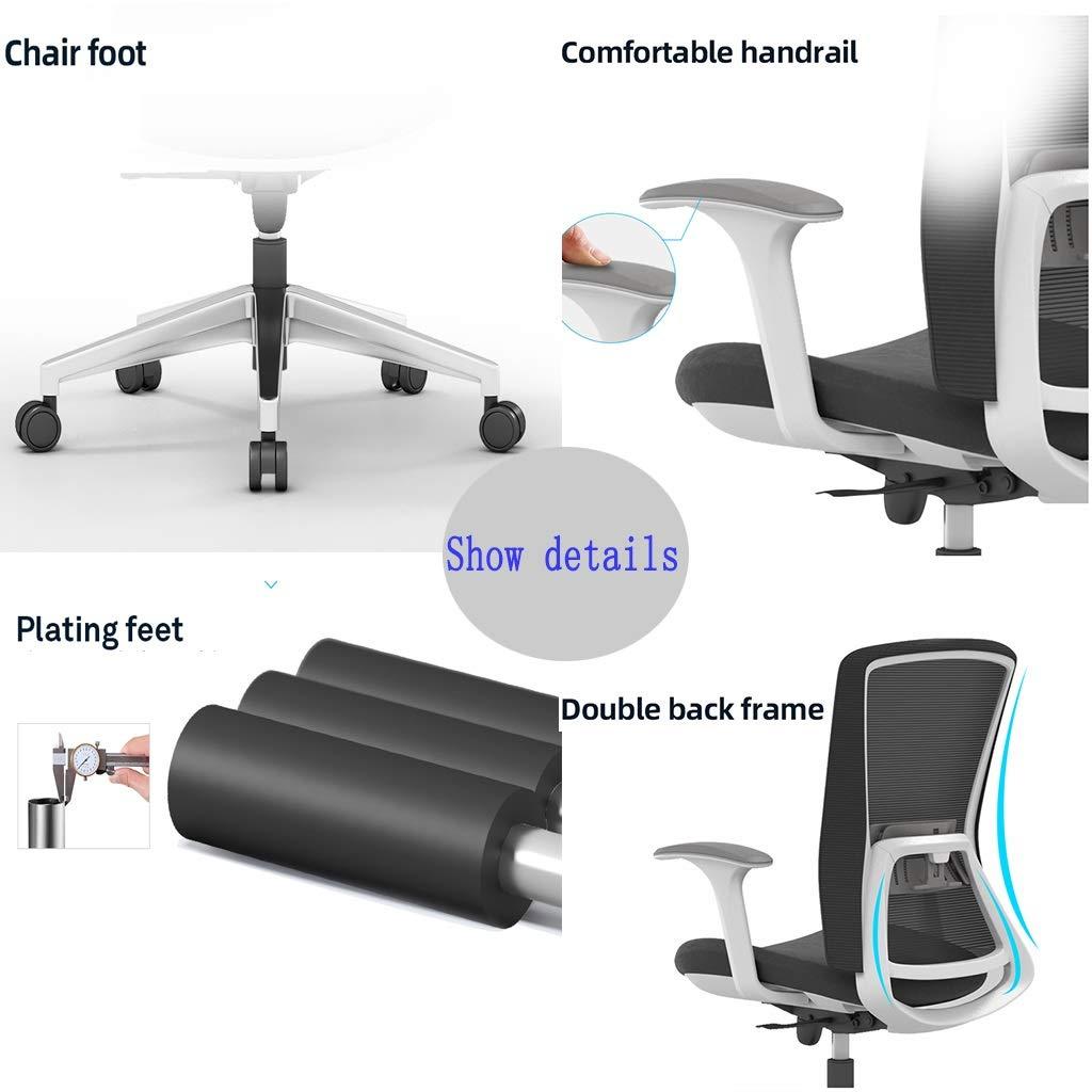 ZZHZY BBGS ergonomisk hög vridbar verkställande stol med justerbart ryggstöd och 3D armstöd ländrygg stöd och nätbaksida för hemmakontor svart (färg: Stil 2) stil 1