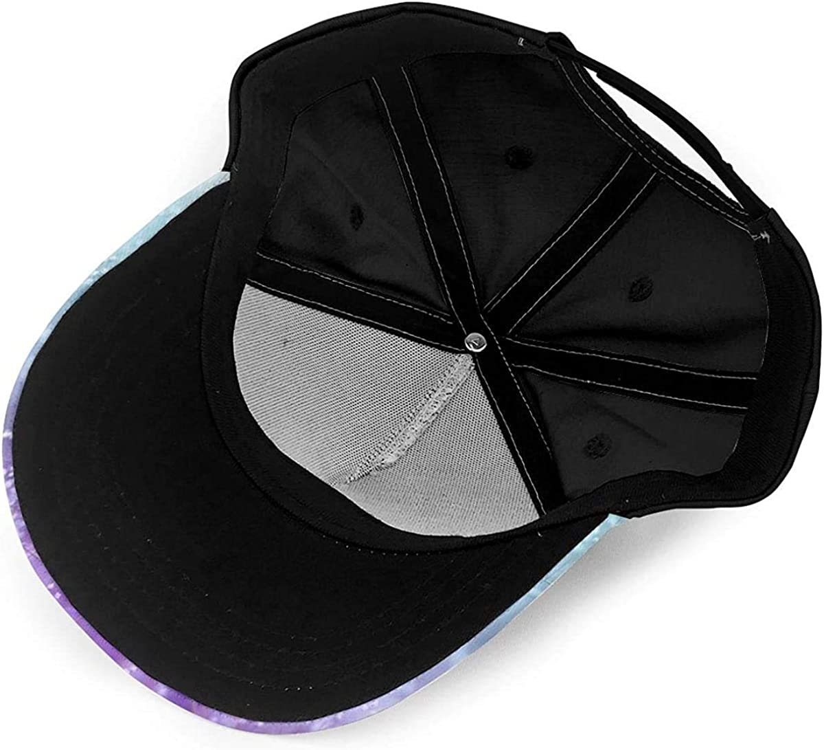 Wooden Dreamy Abstract Lavender Blue Lightweight Unisex Baseball Caps Adjustable Breathable Sun Hat for Sport Outdoor