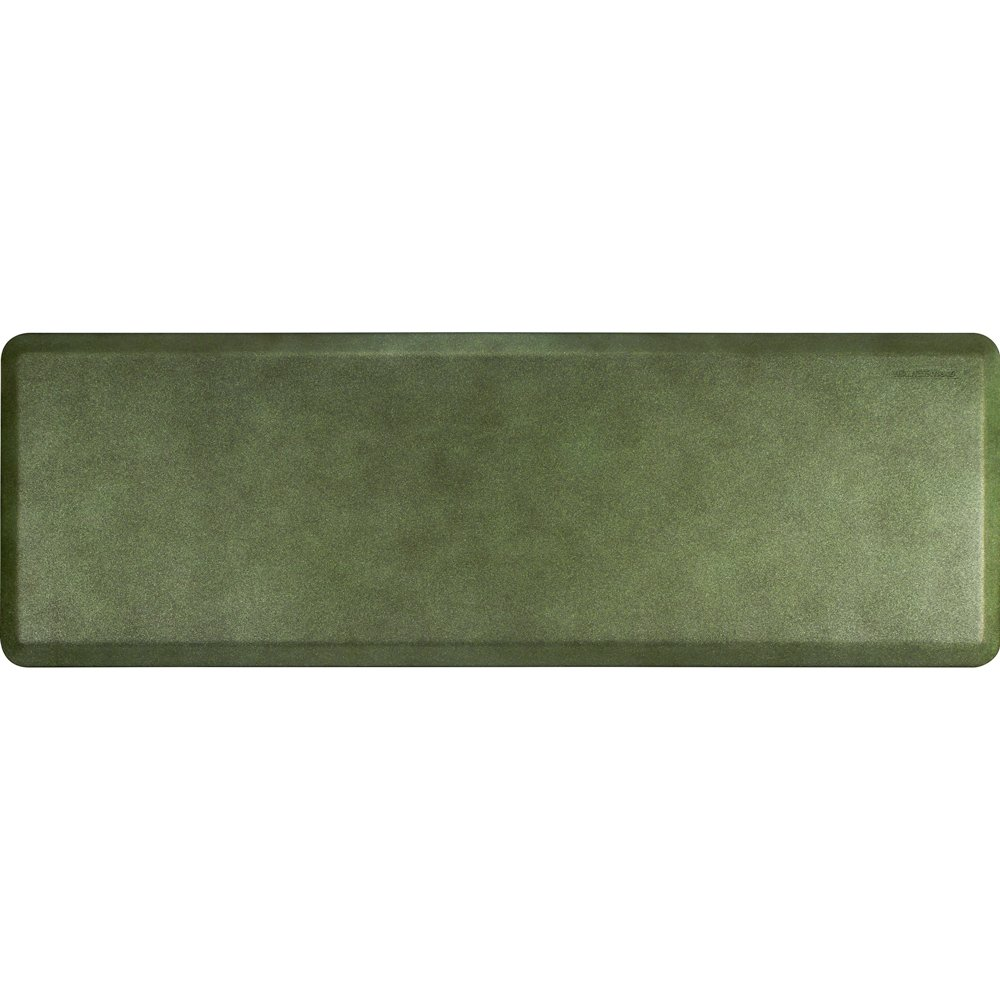 WellnessMats Anti-Fatigue 72 Inch by 24 Inch Granite Motif Kitchen Mat, Emerald