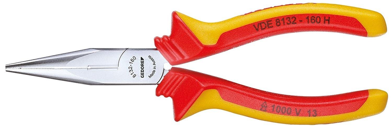 GEDORE 8132-160 H VDE-Flachrundzange mit Hü llenisolierung 160 mm Gedore Werkzeugfabrik GmbH & Co. KG VDE 8132-160 H