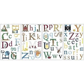 Amazoncom Alphabet Removable Vinyl Wall Decals Kids Room Decor - Vinyl wall decals alphabet
