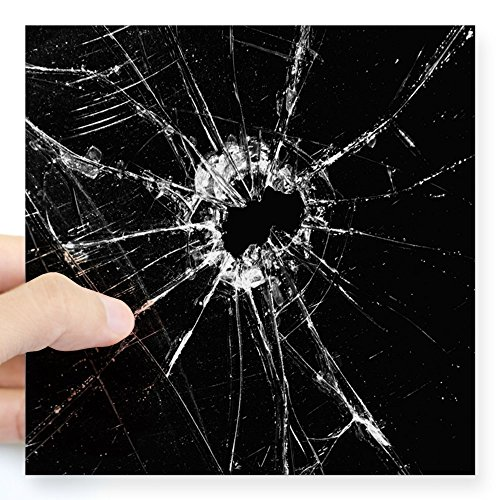 CafePress Broken Glass 1 Sticker Square Bumper Sticker Car Decal, 3