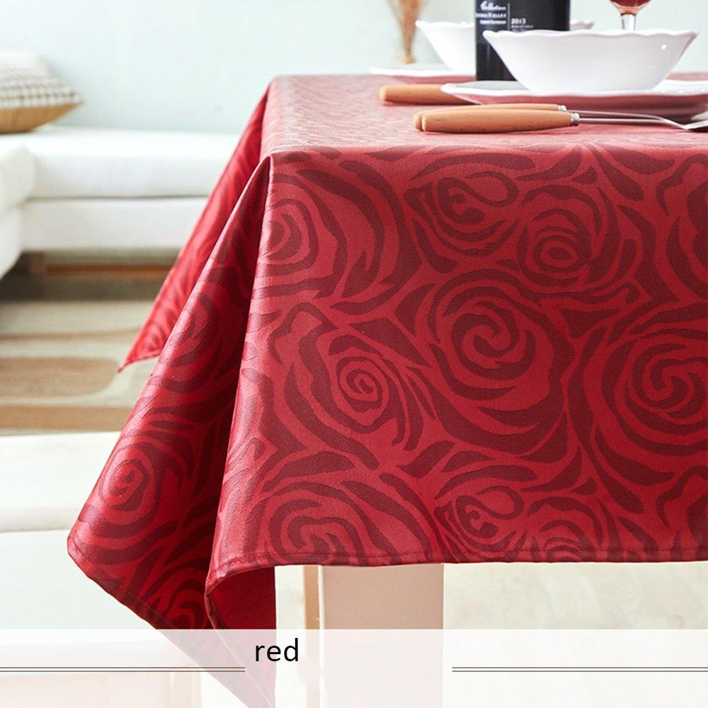 ZZHF Mantel de de de mesa de café Manteles impermeables anti-aceite anti-aceite Mantel de tela desechable Pequeño café rectangular fresco (4 colores opcionales) (tamaño opcional) Mantel de lino ( Color : B , Tamaño : 140140CM  001404