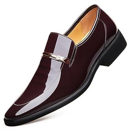 Abed Zapatos de Cuero para Hombres, Zapatos de Cuero Ocasionales de Hombres de Negocios,