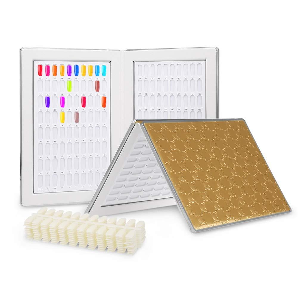 Anself Nailart Display Aufsteller Nagel Präsentation zum Vorstellen für Nagellack UV-Gel 216/120 Farbe Optional VDTAZ012
